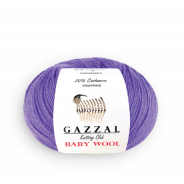 GAZZAL BABY WOOL (Мериносовая шерсть-40%, Кашемир ПА-20%, Полиакрил-40%, 50гр/175м)