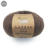 GAZZAL SUPER KID MOHAIR (52% Супер Кид мохер, 13% Мериносовая шерсть файн супервош, 35% Полиамид, 25гр/375м)