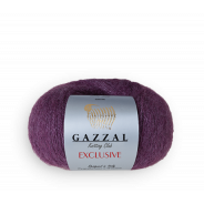 Gazzal EXCLUSIVE  (50%шелк,10%кид-мохер,40%меринос, 25гр/190м)