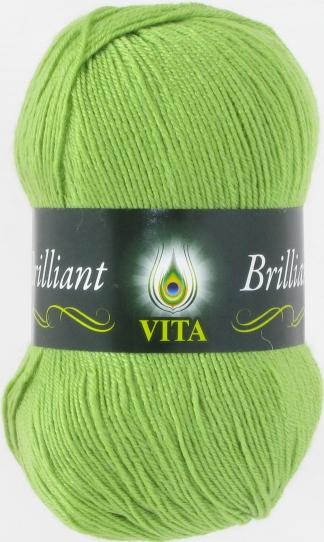 Пряжа Вита Бриллиант 5110 (Салатовый)