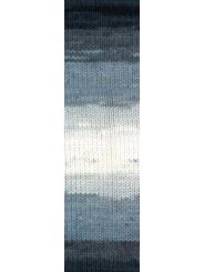 Пряжа Alize LANAGOLD BATIK 1601 (Белый, серый, голубой, черный)
