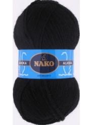 Пряжа Nako Alaska 7102 (черный)