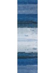 Пряжа Alize LANAGOLD BATIK 1600 (Голубой, синий)