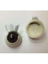 Глаз с ресницами клеевой 10 мм