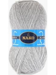 Пряжа Nako Alaska 7117 (св.серый)