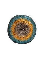 Пряжа Etrofil Puzzle PZ009 (оранжевый синий темно синий)