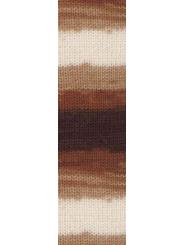 Пряжа Alize LANAGOLD BATIK 2626 (Белый, беж, коричневый)