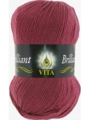 Пряжа Вита Бриллиант 5114 (Розовый виноград)