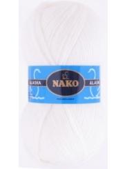 Пряжа Nako Alaska 7101 (белый)