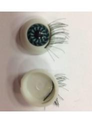 Глаз с ресницами клеевой 15 мм