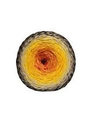 Пряжа Etrofil Puzzle PZ006 (оранжевый белый черный)