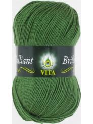 Пряжа Вита Бриллиант 5111 (Зеленый)